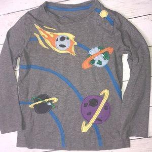 Mini Boden space shirt size 5/6